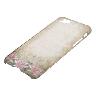 Pink Lotus Grunge iPhone 7 Clearly™ Deflector Case