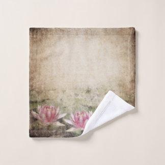 Pink Lotus Grunge Wash Cloth