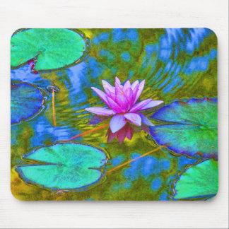 Pink Lotus Lilypad - Beautiful Photo - Yoga Theme Mouse Pad