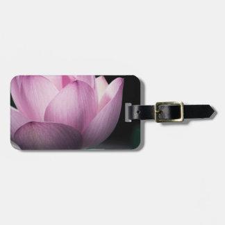 Pink Lotus macro photo Luggage Tags