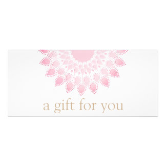 Pink Lotus Mandala Spa Rack Card