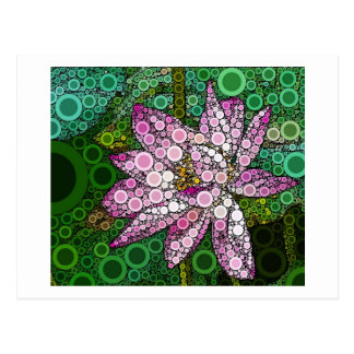 Pink Lotus Mosiac Postcard