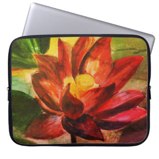 Pink Lotus Neoprene Laptop Sleeve 15""