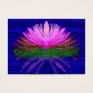 Pink lotus on blue water business card