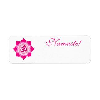 Pink lotus return address label