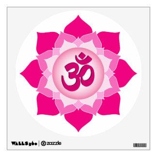 Pink lotus wall sticker