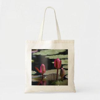 Pink Lotus Waterlilies Tote Bag