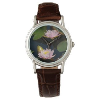 Pink Lotus Waterlilies Watch