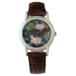 Pink Lotus Waterlilies Watch