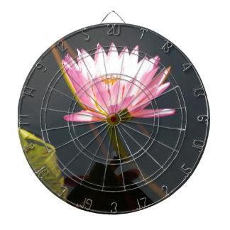 Pink Lotus Waterlily Dartboard