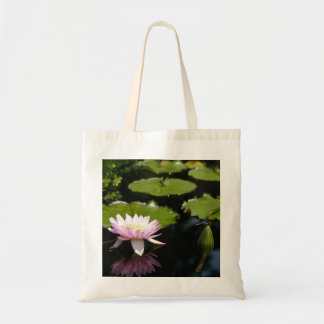 Pink Lotus Waterlily Dragonfly Tote Bag