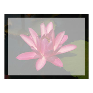 Pink Lotus Waterlily Flower Letterhead