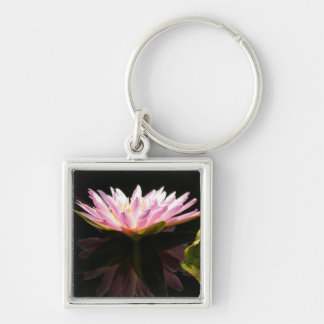 Pink Lotus Waterlily Keychain