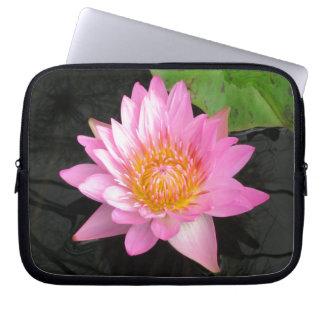 Pink Lotus Waterlily Laptop Sleeve