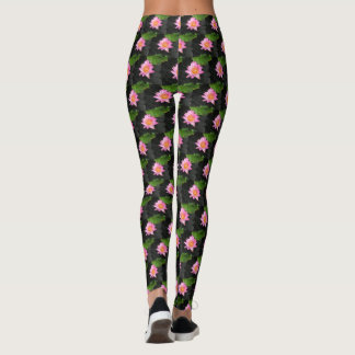 Pink Lotus Waterlily Leggings