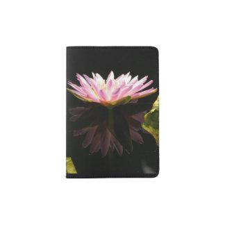 Pink Lotus Waterlily Passport Holder