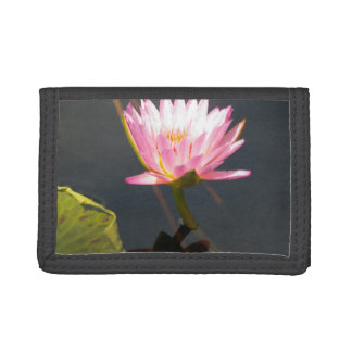 Pink Lotus Waterlily Tri-fold Wallets