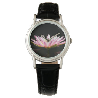 Pink Lotus Waterlily Watch