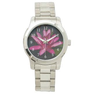 Pink Lotus Waterlily Watch