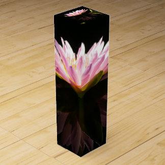 Pink Lotus Waterlily Wine Box