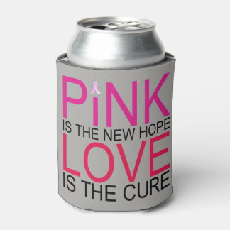 Pink Love Breast Cancer Awareness Can Cooler