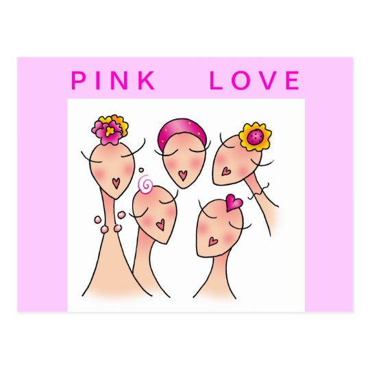 PINK LOVE Breast Cancer Postcard
