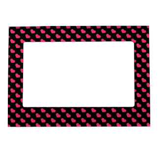Pink love heart magnetic picture frame