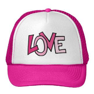 Pink love letters design illustration trucker hat