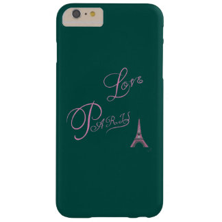 Pink-Love-Paris-Eiffel-Tower-Unique Barely There iPhone 6 Plus Case