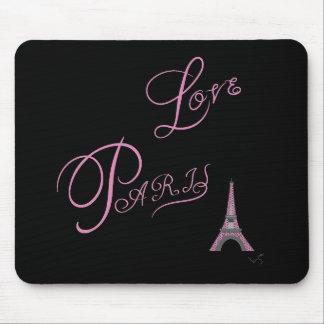 Pink-Love-Paris-Eiffel-Tower-Unique Mouse Pad