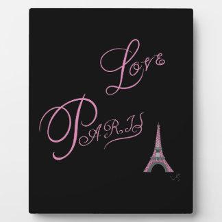 Pink-Love-Paris-Eiffel-Tower-Unique Plaque
