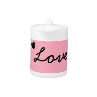 Pink love tea pot.