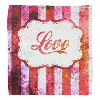 Pink Love with Stripes Bandana