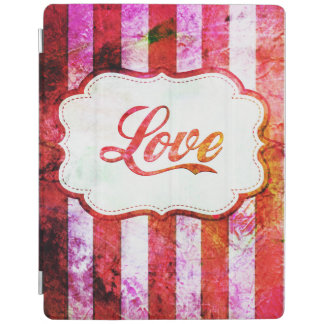 Pink Love with Stripes iPad Cover