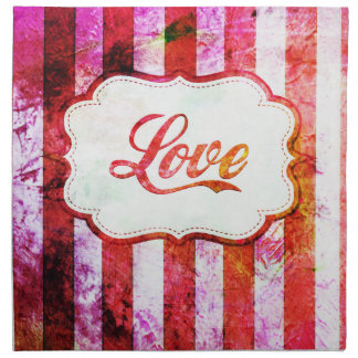 Pink Love with Stripes Napkin