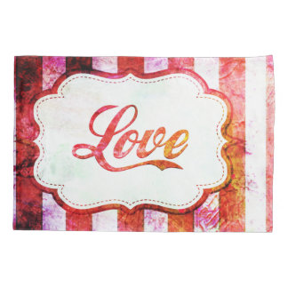 Pink Love with Stripes Pillowcase