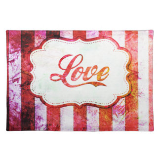Pink Love with Stripes Placemat