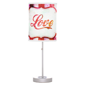 Pink Love with Stripes Table Lamp