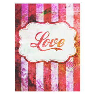 Pink Love with Stripes Tablecloth