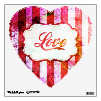 Pink Love with Stripes Wall Decal