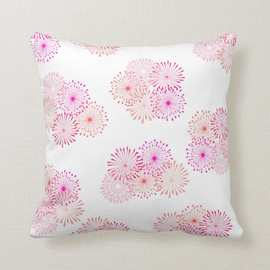 "Pink Lover Cotton Throw Pillow 16"" x 16"""