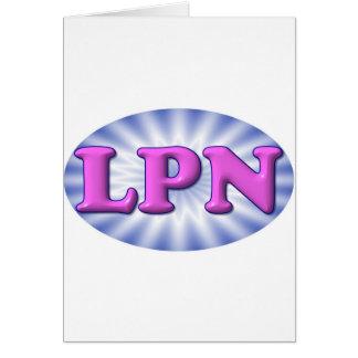 Pink LPN Greeting Card