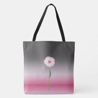 pink luna moonflower salutation tote bag