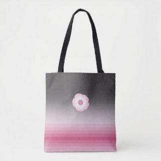 pink luna moonflower tote bag