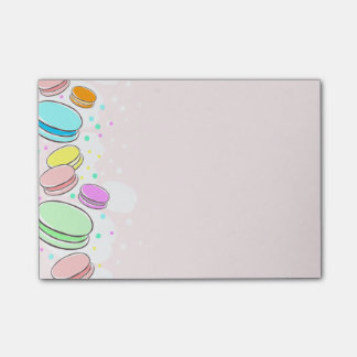 """Pink Macaroons 4 x 3"""" Post-It Notes"""