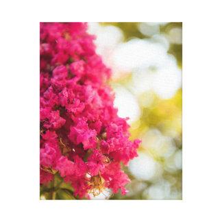 Pink Magenta Floral Flower Fine Art Home Decor Art Canvas Print