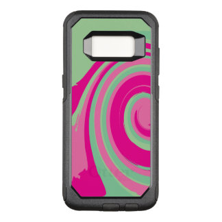 Pink, Magenta, Green and Mint Green Twirl OtterBox Commuter Samsung Galaxy S8 Case