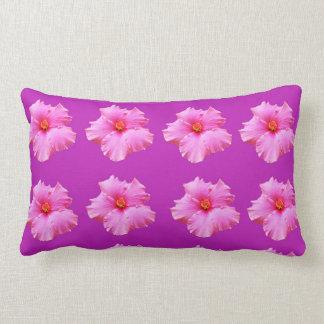 Pink Magenta Hibiscus Kisses, Lumbar Pillow