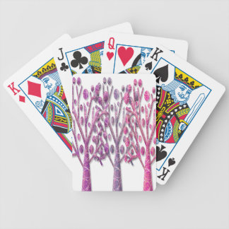 Pink magical trees bicycle playing cards