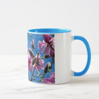 Pink magnolia blossoms coffee mug